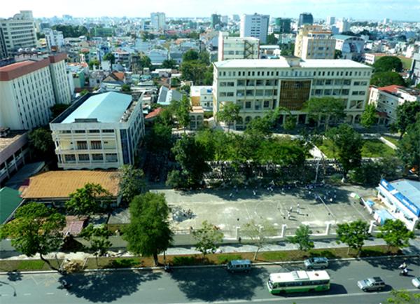 Ausblick aus dem Fenster auf Saigon
