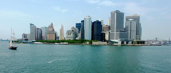 Ausblick auf die Skyline von NYC