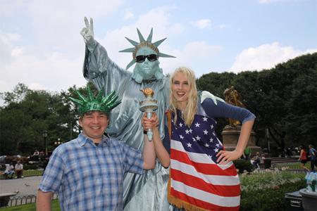 Elischeba und Pierre Wilde im Central Park