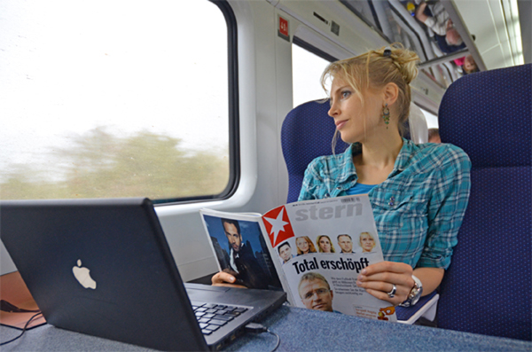 Zugfahrt von Dublin nach Cork