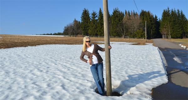 Osterzgebirge Schnee