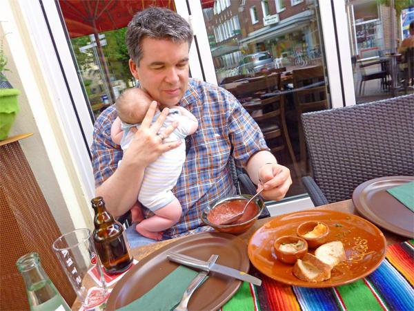 essen mit Baby