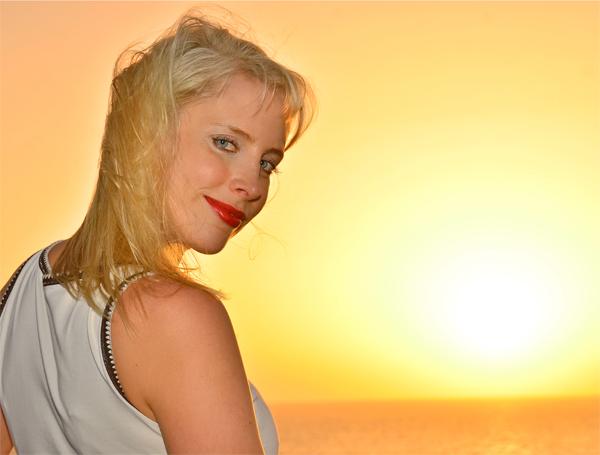 Elischeba im Sonnenuntergang an der Costa Adeje