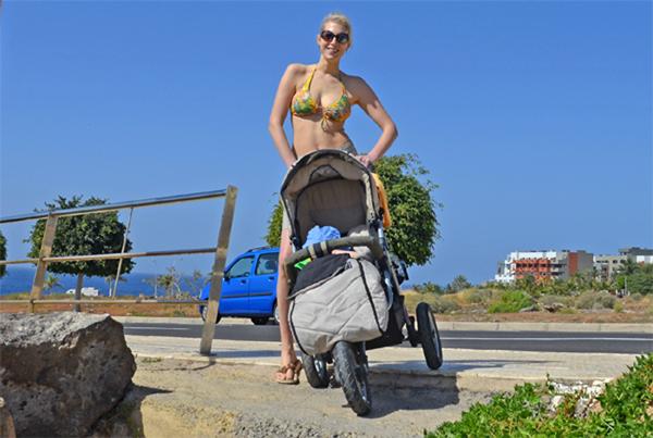 weg zum strand auf teneriffa