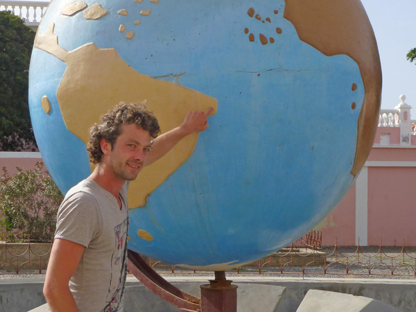 Timo am Globus