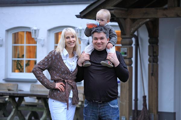 Family Wilde als Gaeste im Ebbinghof