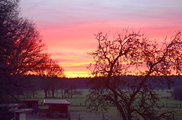 Morgen Sonnenaufgang