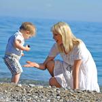 Elischeba und Leon am Meer