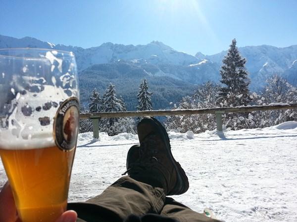 Winterwanderung zum Eckbauern oberhalb von Garmisch