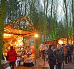 waldweihnachtsmarkt in velen