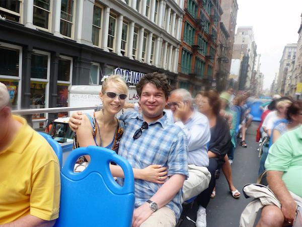 Busfahrt durch New York