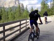 radeln in den Dolomiten