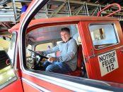 Pierre im Feuerwehrauto Attendorn