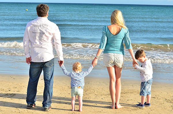 Family Shooting am Strand