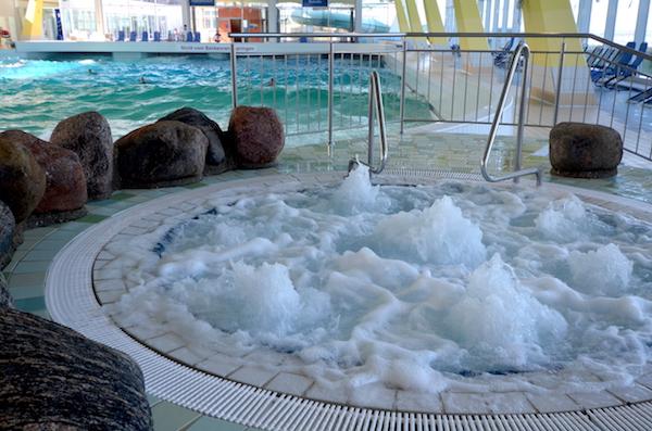 Whirlpool mit Meerwasser