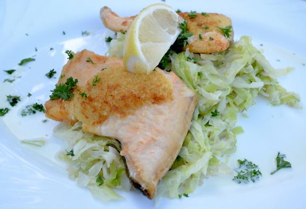 Fisch im Restaurant Strandterrassen
