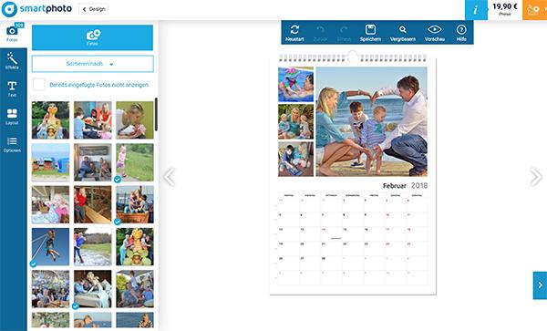 Kalender mit Urlaubsfotos drucken/