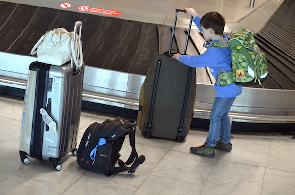 Gepäack am Flughafen am Gepäckband