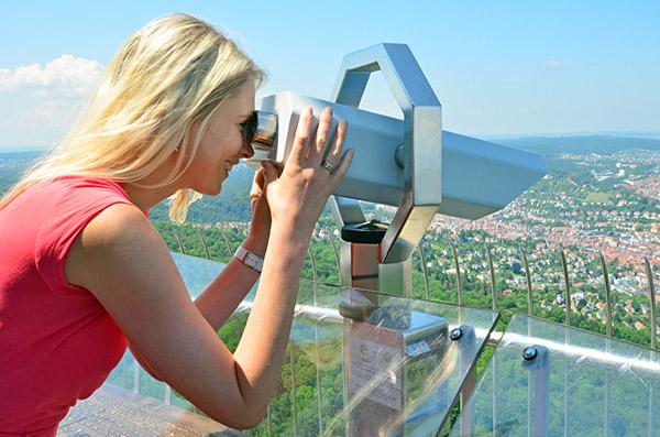 Elischeba auf dem Fernsehturm Stuttgart